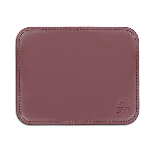 Eglooh - Hermes - Schreibtischmousepad aus Leder mit abgerundeten Ecken - Bordeaux Rot - cm 25x20 - In Italien hergestellt -