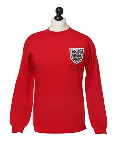 Bobby-Charlton-Signed-World-Cup-1966-Retro-England-Shirt-Autograph-Memorabilia