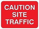 Verboten Hinweisschild: Vorsicht Seite Traffic-nur Text (Größe: 400x 300Material: 3Aluminiumverbundplatte Ultra hi-durability Zeichen)