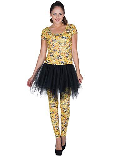 Kleid Emoji Damen gelb M (Emoji-kleider Für Frauen)