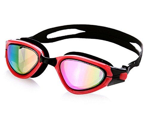 Schwimmen Schutzbrillen, Embryform Klare Schwimmen Schutzbrillen Keine Leaking Anti Fog UV Schutz Triathlon Schwimmbrille mit freiem Schutz Fall für Erwachsene Männer Frauen Jugend Kinder Kind, YG12L3