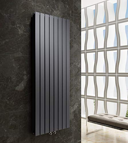 Design Flach Heizkörper Badheizkörper 1800x608mm Antrazit Paneelheizkörper Wohnraumheizkörper Plattenheizkörper Mittelanschluss Doppellagig 1961Watt