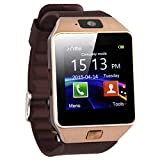 Smart-Watch Phone - LEXPON DZ09 Bluetooth SmartWatch Handy-Uhr fuer Smartphone Samsung iphone HTC Android Phone mit Kamera SIM Gold
