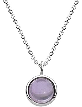 Dew  -  925 Sterling-Silber  Silber Rundschliff   lila Améthyste
