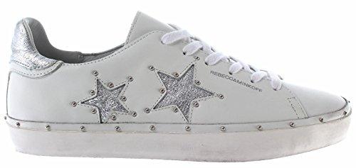 Rebecca Minkoff Chaussure Femme Sneaker RMMILT01WHSV Michell Nappa White Low New
