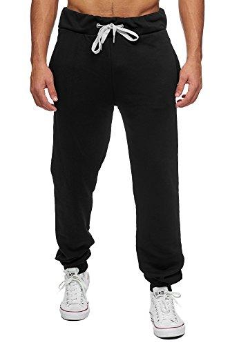 Reslad Jogginghose Herren Trainingshose Männer Sporthose Sweatpants Jogger Pants Freizeithose für Gym & Fitness RS-5060 (2XL, Schwarz 16600) (Fleece-laufhosen)