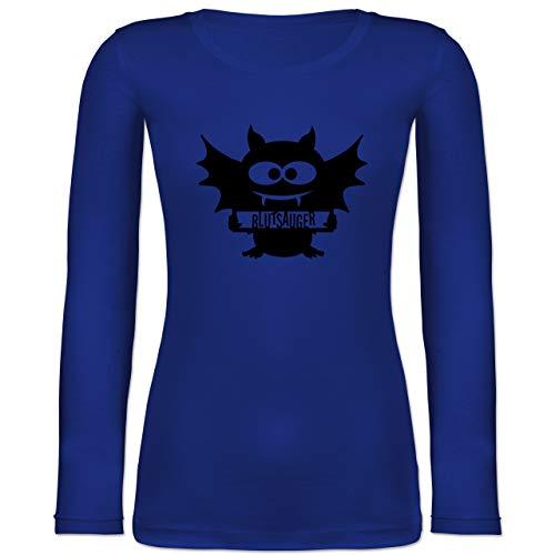 - Fledermaus - XXL - Blau - BCTW071 - Langarmshirt Damen ()