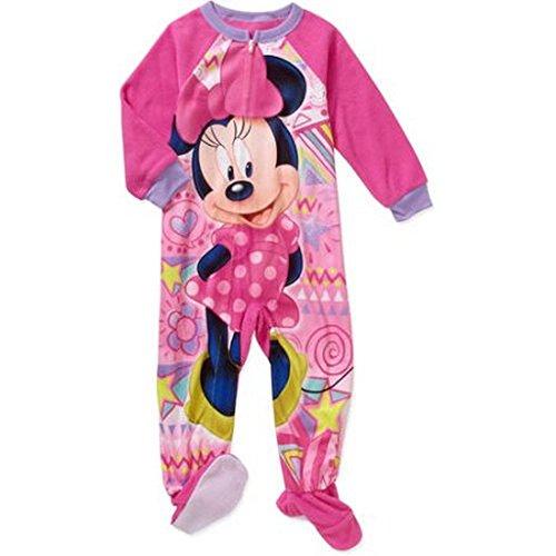 Minnie Mouse M?dchen 4T Fleece Footed Decke Pyjama SCHL?fer 4t Fleece