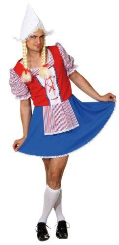 Holländerin Kostüm - Holländerin Herren Kostüm Antje Kleid zu Karneval Fasching Gr.54/56