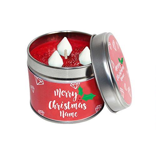 personalisierbar Weihnachten Kerze Dose