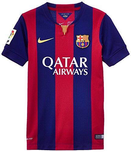 Nike Jungen Trikot FC Barcelona Home Stadium Loyal Blue/2-Full Sponsor/Sunlight, XL -