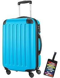 Hauptstadtkoffer® Bagaglio a mano (49 litri) con un lucchetto TSA Seria SPREE (Colore Grafite con 1 ciondolo per la valigia)