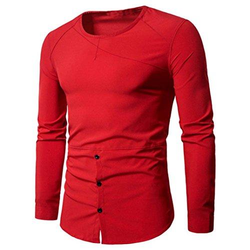 ITISME TOPS Herren Hemd Slim Fit Diamant-Gitter Karohemd Kariert Langarmshirt Freizeit Business Party Shirt für Männer