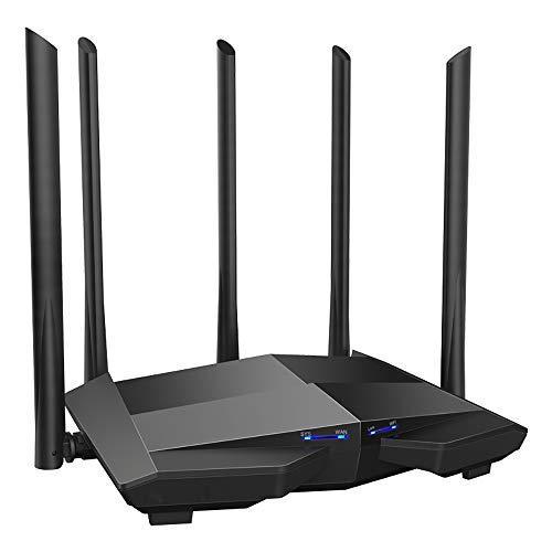ZUEN Drahtloser Router WiFi Repeater Gigabit Dual-Band 1200M Mit 5 * 6Dbi High-Gain-Antenne, Größere Reichweite, Einfache Einrichtung, Für Den Innenbereich