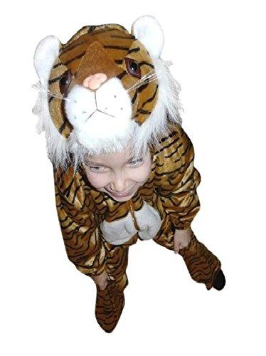 F14 Taglia 8-9A (128-134cm) Costume da tigre per bambini, indossabile comodamente sui vestiti normali