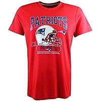 New Era Tshirt - New England Patriots NFL Helmet Classic Tee, Red, American Football Top.