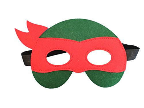 Augenmaske Maske Filzmaske für Augen - Auswahl von Superhelden Designs -Spiderman, Batman, Ninja Turtles, Captain America, Ironman, Kostüm Verkleidung (Ninja Turtels) (Spiderman Kostüme Designs)