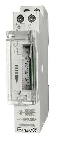 Temporizador de RELOJ MECÁNICO para cuadros eléctricos DIN 230V BRAVO 93003222