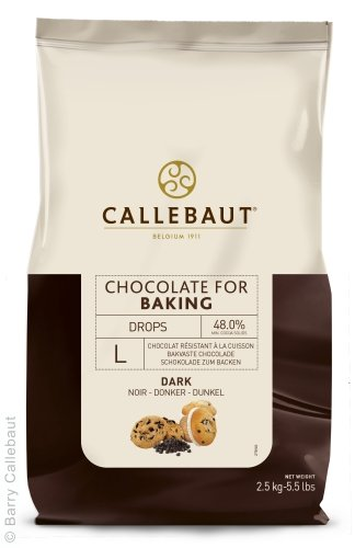 Callebaut - Pépites de Chocolat Noir Résistant à la Cuisson 2,5kg