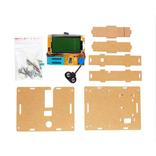 sourcingmap® LCR-T4 ESR Mètre Testeur transistor diode Triode Inductance SCR avec Coquille acrylique