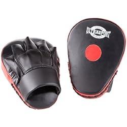 Ultrasport - Set de dos manoplas, serie Boxing Gear, curvadas (palma acolchada con punto rojo)