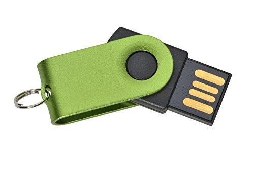 B Stick in grün - Speicherstick Design Micro Slim Drive - 2.0 Flash Speicher - extrem kleiner & leichter Micro Memory Stick, Farbauswahl und idealer Anhänger ()