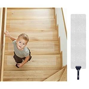 Antirutschstreifen Treppe, Queta Antirutschstreifen für Treppen Transparent Rutsch Streifen Rutschschutz Treppenstufen…