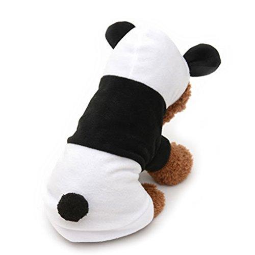 Katze Kostüm Panda - ueetek Hund Kleidung Haustier Hund Panda Kleidung Puppy Hoodie Coat Hund Katze Apparel Kostüm,