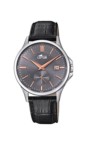 Lotus Watches Mens Analogue Classic Quartz Watch with Leather Strap 18424/3