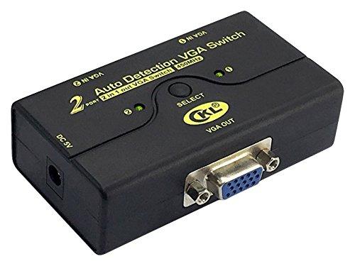 VGA Switch Schalter 2 Port Unterst¨¹tzt 2048 * 1536 450 MHz, 2 Computers Share 1 Monitor Projektor mit Automatischer Erkennung USB CKL-21A