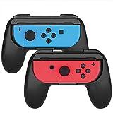 Nintendo Switch grip, Myriann (2 pezzi) Comfort Pads ergonomici Grip per Joy Con (Nero)