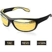 Gafas de Sol Deportivas Hombre Polarizadas Elegear 2018 Gafas de verano polaroid anti rayos UVA UV Marco Aleación de Aluminio, Magnesio y TR90 Lente Espejo ...