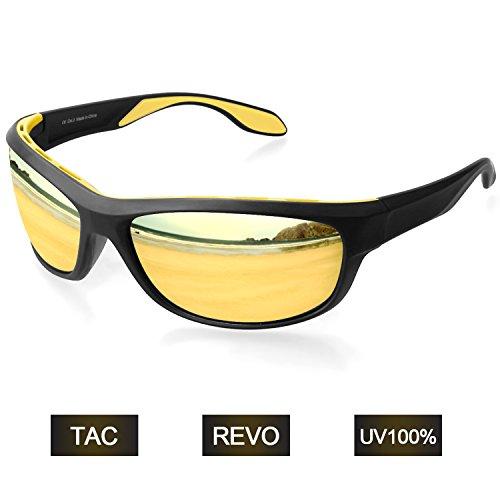 Elegear Sportbrille Polarisiert Sonnenbrille Herren Fahrradbrille Damen Radbrille Frauen Fuer Autofahren Laufen Radfahren Golf Outdoor Aktivitäten