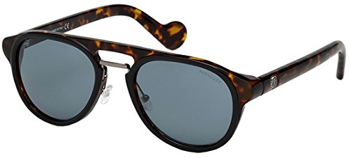 MONCLER Unisex Adults' ML0020 05V 54 Sunglasses, Black (Nero)