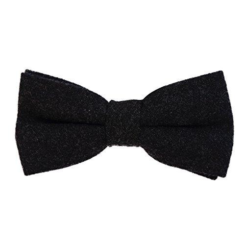 Schwarz Fischgräten-anzug (DonDon Herren Fliege 12 x 6 cm Baumwolle gebunden und längenverstellbar schwarz 2)