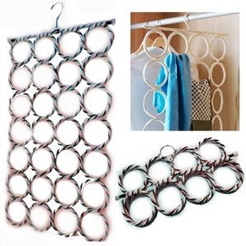 IKEA KOMPLEMENT MULTI-USE SHALWS corbatas cinturones bufandas perchas anillas para barra de armario organizador