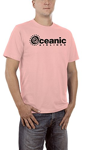 Touchlines Unisex/Herren T-Shirt Oceanic Airlines - Lost Dharma, pink, L, B1751 (Rosa Airline)