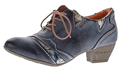TMA Echtleder Damen Pumps Schwarz Leder Halb Schuhe TMA 6101