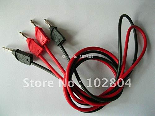 Ochoos 5 Set (10 Stück) 2 Farben Rot Schwarz Bananenstecker auf Bananenstecker Typ B Silikon Kabel Test Kabel Hochspannung
