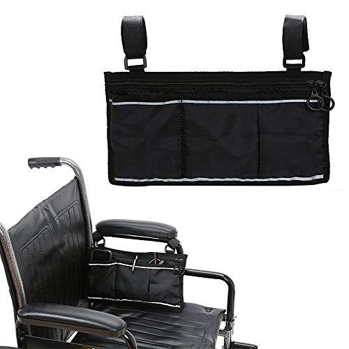 41nbGUeLD2L - AUVSTAR Bolsa de almacenamiento para silla de ruedas Bolsa,Bolsa de accesorios de silla de ruedas, Personas mayores, discapacitados - Bolsa de silla de ruedas con manos libres. (Negro)