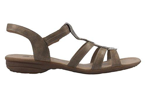 REMONTE - Damen Sandalen - Silber Schuhe in Übergrößen Gold