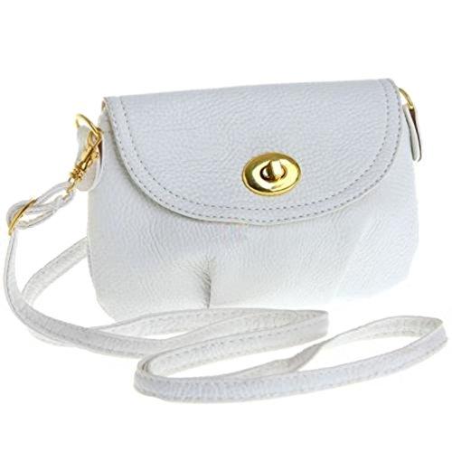 aimerfeel Damen mini kleine Handtasche Crossbody Schulter Umhängetasche, Weiß