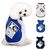 EUCoo Welpen-Haustier Kleiner Hund Kleidet Baumwollweste-Hemd-Abnutzung Im Sommer Kleiner Hund ( Blau, L)