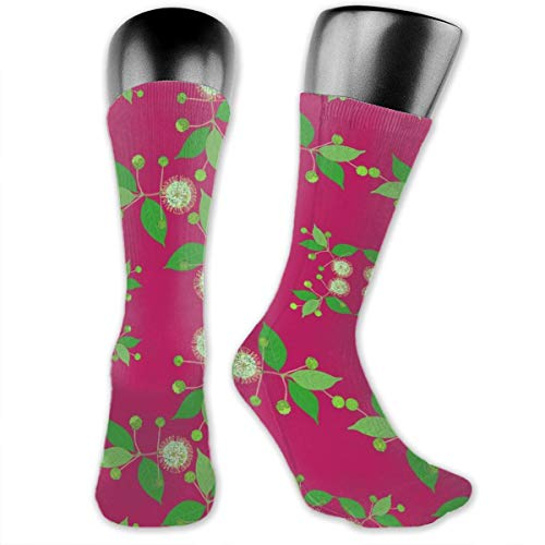2941 Australian Buttonbush Pink Hot Unisex Athletic Crew Socks Running Gym Compression Foot - Australian Bootie