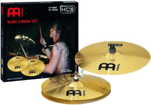 Meinl Cymbals HCS1416 HCS Serie Beckenset mit 35,56 cm (14 Zoll) Hihat, 40,64 cm (16 Zoll) Crash