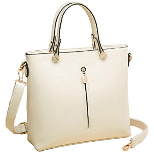 Borsa da donna in pelle, motivo Celebrity-Borsa a spalla da donna, con tracolla, in borsetta rosso