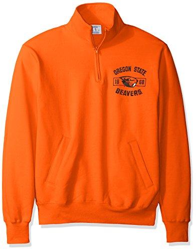 Champion Herren Powerblend Fleece Quarter-Zip Jacke, Herren, Orange -