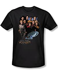 Star Trek - Mens Voyager Crew T-Shirt In Black