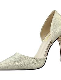 ZQ Zapatos de mujer-Tac¨®n Robusto-Tacones-Tacones-Oficina y Trabajo / Vestido-Sint¨¦tico-Negro / Rosa / Rojo , black-us8.5 / eu39 / uk6.5 / cn40 , black-us8.5 / eu39 / uk6.5 / cn40