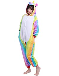 CHICTRY Niños Pijama Unisex Enterizo Animal Cosplay Traje Disfraces Animal Unicornio Mono Ropa de Dormir Una